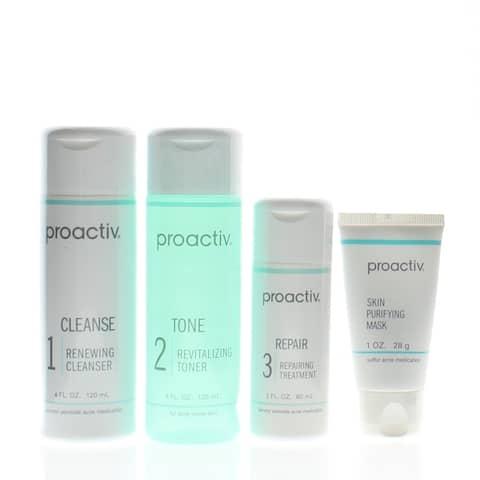 Proactiv Solution 4 Piece 60 Day Acne Treatment Kit (Cleanse-4 oz, Tone-4 oz, Repair-2 oz, Mask-1 oz)