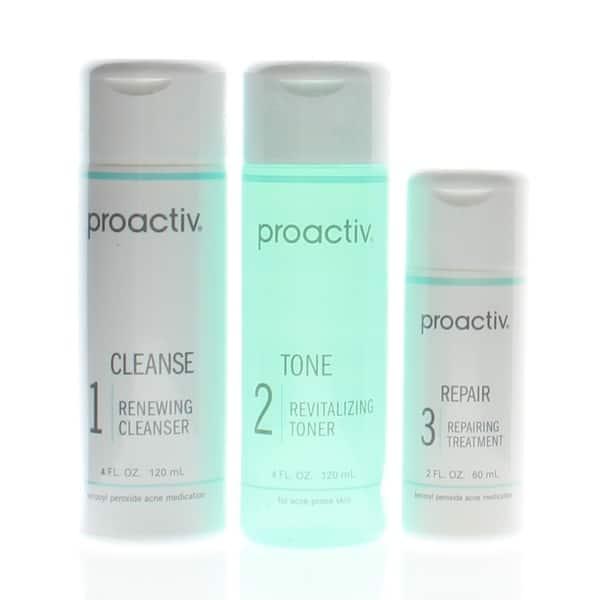 Shop Proactiv Solution 3 Piece 60 Day Acne Treatment Kit Cleanse 4 Oz Tone 4 Oz Repair 2 Oz Overstock 30788210