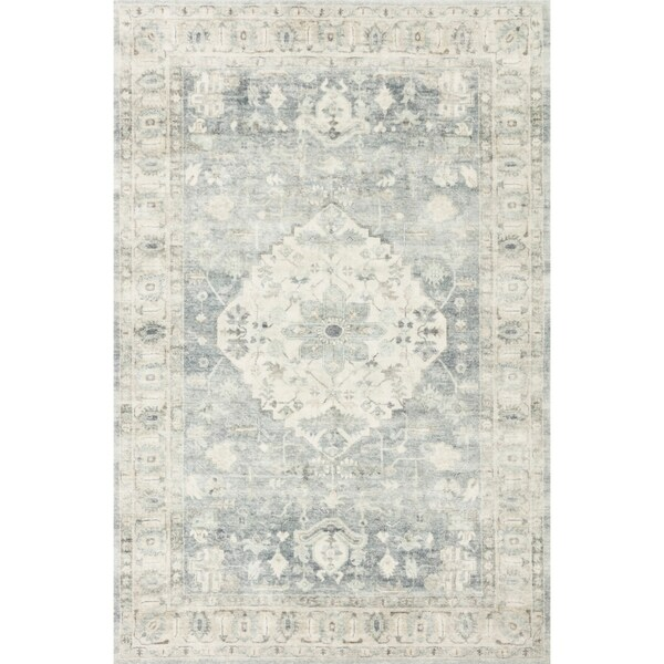 Alexander Home Juliet Ultra-Soft Distressed Medallion Rug