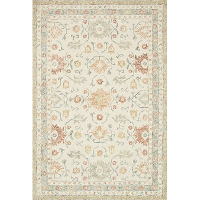 Orange French Country Area Rugs