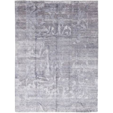 Contemporary Modern One-of-a-Kind Hand-Knotted Area Rug - 9 x 12