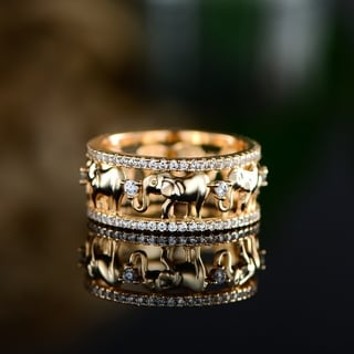 Link to Peermont 18k Yellow Gold Plated Cubic Zirconia Elephant Ring Similar Items in Intimates