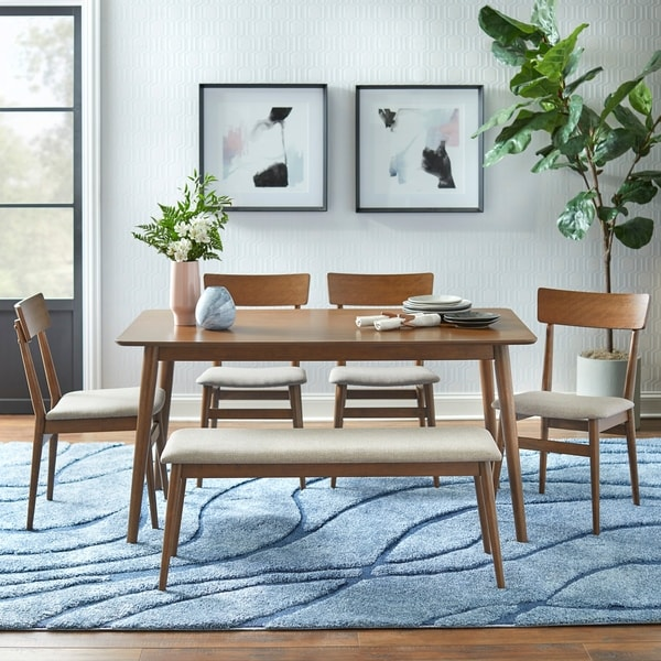 Simple Living Newington 6-piece Dining Set with Bench. Opens flyout.