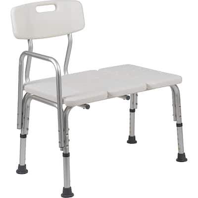 Varina Tub Transfer Bench with Height Adjustable Legs - Convertible to Right or Left Hand Entry