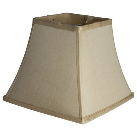 Silk Square Cut Lampshade, 5.25 inch Top, 9 inch Bottom, 8 inch Slant