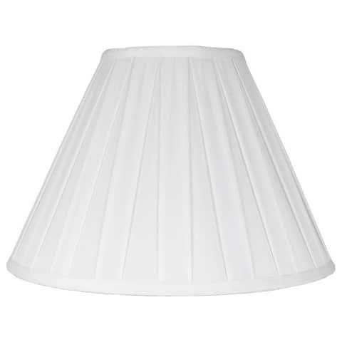 Empire Box Pleat Lamp Shade, 6 inch Top, 14 inch Bottom, 9 inch Slant