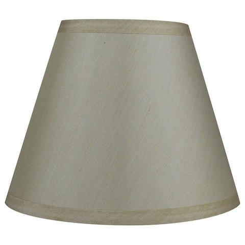 Hardback Faux Silk Coolie Lamp Shade, 5 inch Top, 9 inch Bottom, 7 inch Slant