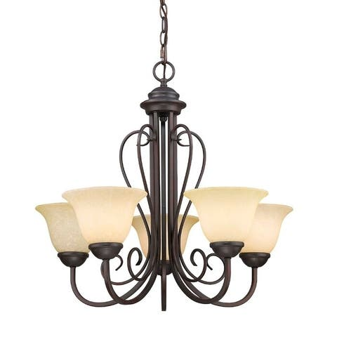 Lorin 5 - Light Shaded Classic / Traditional Chandelier