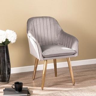 Carson Carrington Home Waldron Velvet Upholstered Accent Chair