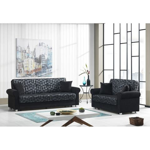 Rio Grande Fabric Upholstery Sofa Sleeper Bed with Storage