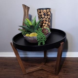 Mid Century Modern Round Wood Coffee Table