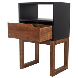Link to Mid Century Modern Wood One Drawer Open Display Side Table Similar Items in Living Room Furniture
