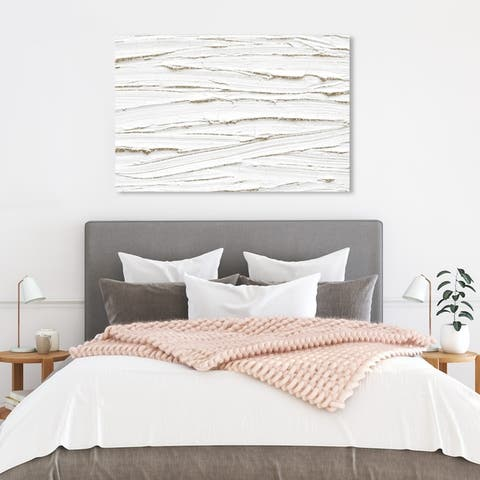 Wynwood Studio 'The Right One' Abstract Wall Art Canvas Print Paint - White, White