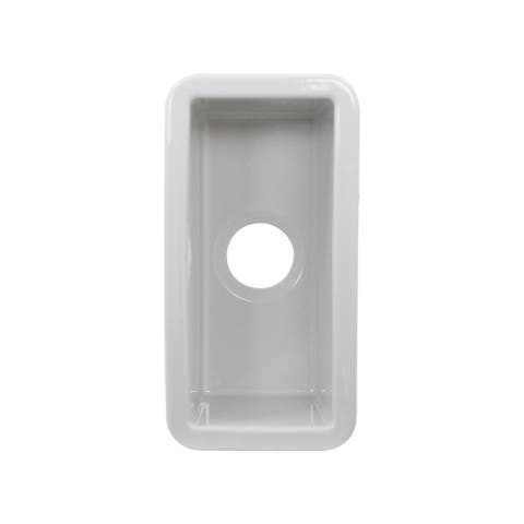 Petite Fireclay Valet-Prep or Bar Sink - 9.25 x 18.25 x8.75 inches