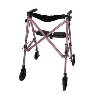 Space Saver Rollator (Pink)