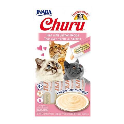 Creamy Tuna w/ Salmon Cat Treat w/ Vitamin E, 2 oz
