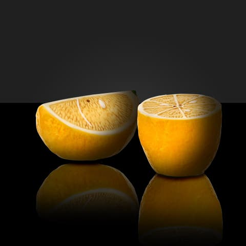 "Dolomite Lemon Salt&Pepper Shaker 2-3.5"" Set of 2"