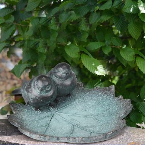 """Polystone Birds On Leaf 10""""L"""