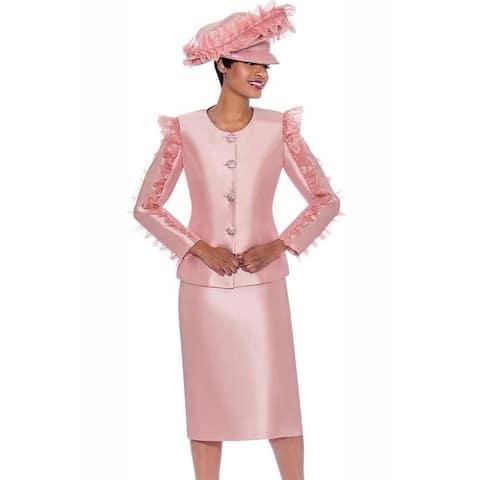 Terramina Women's 2 piece Occasion Church Skirt Suit