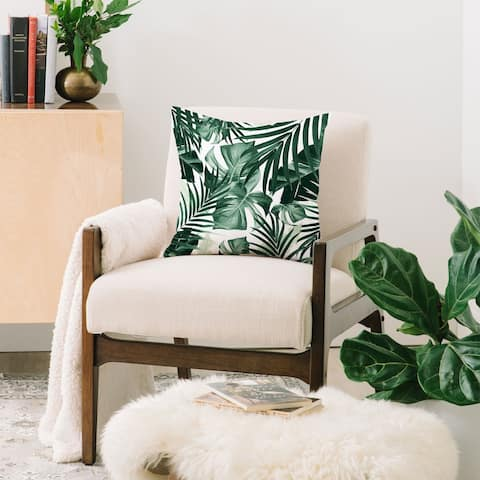 Deny Designs Tropical Jungle Leaves Throw Pillow (6 size options)