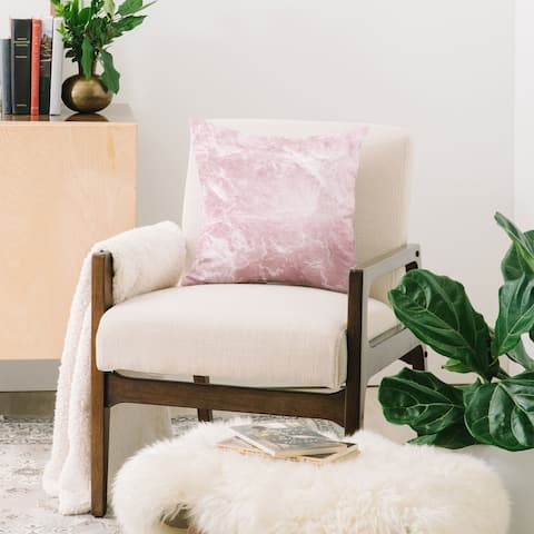 Deny Designs Enigmatic Blush Pink Marble Throw Pillow (6 size options)