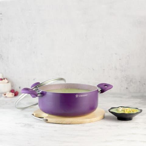 Wonderchef Royal Velvet Casserole with Lid 24 cm Violet