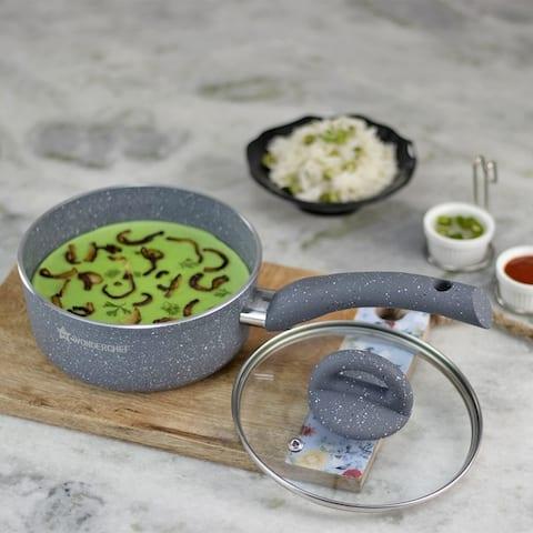 Wonderchef Granite Lentil and Curry Pan with Lid, 16 cm - 16 cm