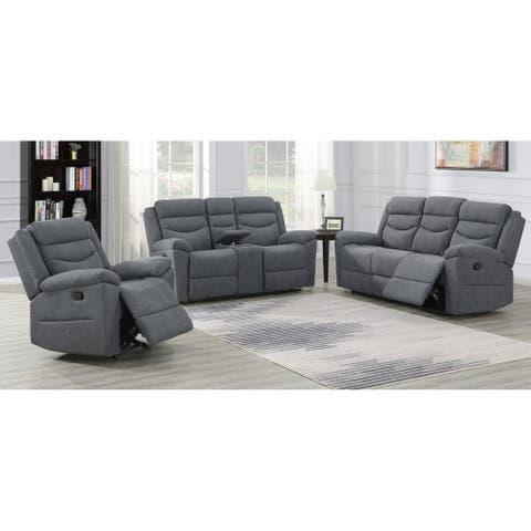 Carver 3-Piece Reclining Living Room Set by Greyson Living - 3-Piece Set