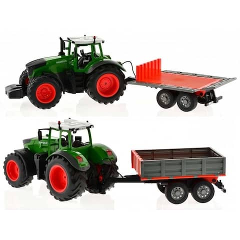Remote control tractor with trailer