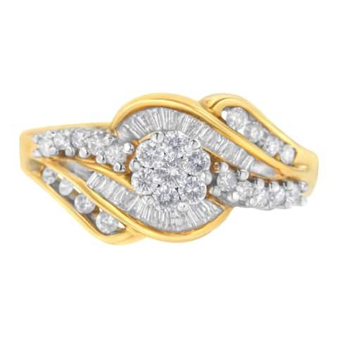 14kt Two-Toned 1ct TDW Diamond Ring (H-I,I1-I2)