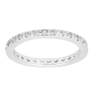 Simon Frank Classic CZ Rhodium Eternity Band