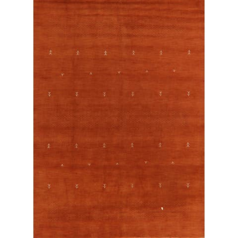 "Orange Tribal Gabbeh Oriental Home Decor Area Rug Handmade Carpet - 8'2"" x 11'2"""