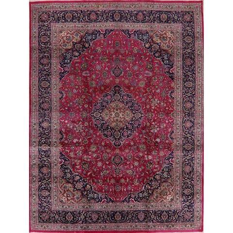 "Floral Kashmar Persian Pink Area Rug Handmade Living Room Carpet - 9'9"" x 13'0"""