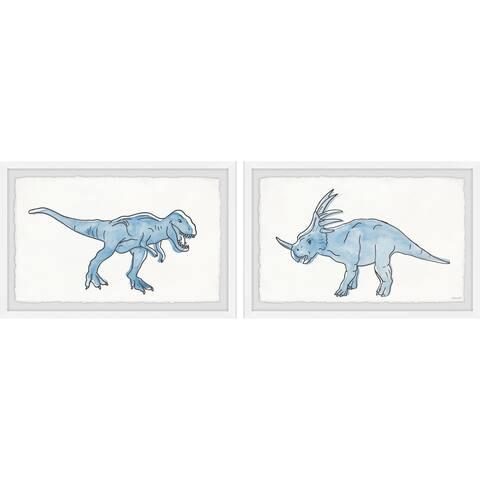 Muscular Dinosaurs Diptych