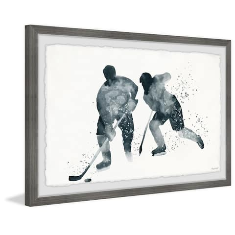 'Glide and Hustle' Framed Painting Print