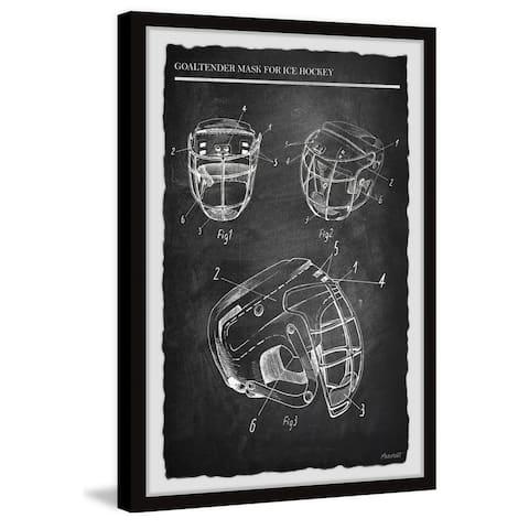 'Goaltender Mask for Ice Hockey II' Framed Painting Print