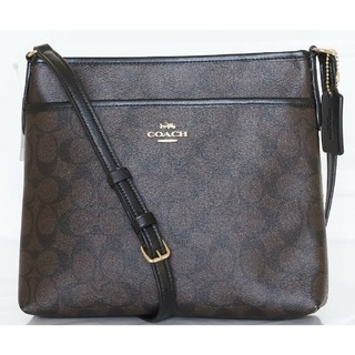 Link to Coach 29210 Signature Crossbody Brown Black Similar Items in Shop By Style