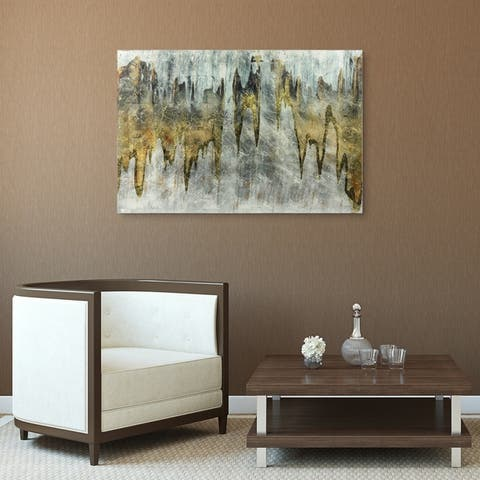 White Abstract Wall Art Reverse Print Tempered Glass & Silver Leaf