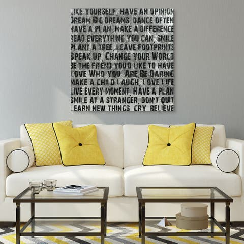 Words & Quotes Wall Art Reverse Print on Tempered Glass & Silver Leaf