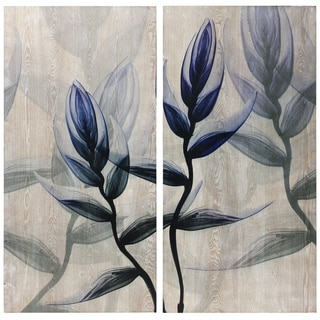 Link to Flower Wall Art High Giclee Print on Hand Finished Ash Wood, Set of 2 Similar Items in Wood Wall Art