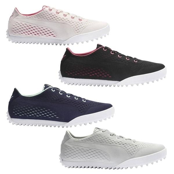 2020 PUMA Women Monolite Cat Engineered Mesh Spikeless Golf Shoes. Opens flyout.