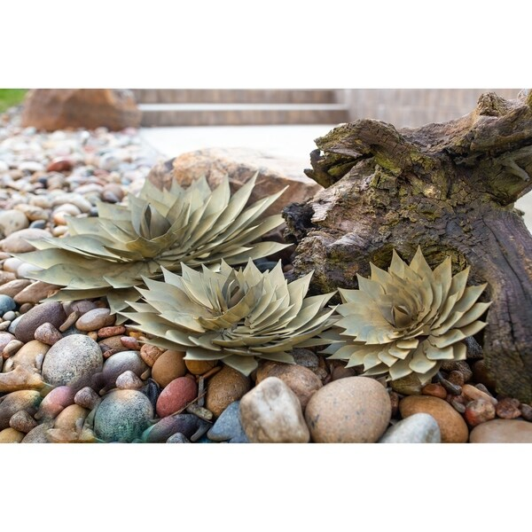 Spiral Aloe Outdoor Steel Garden/Wall Accent Decor. Opens flyout.