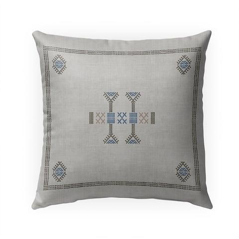 MOROCCAN KILIM GREY Indoor Outdoor Pillow by Kavka Designs - 18X18