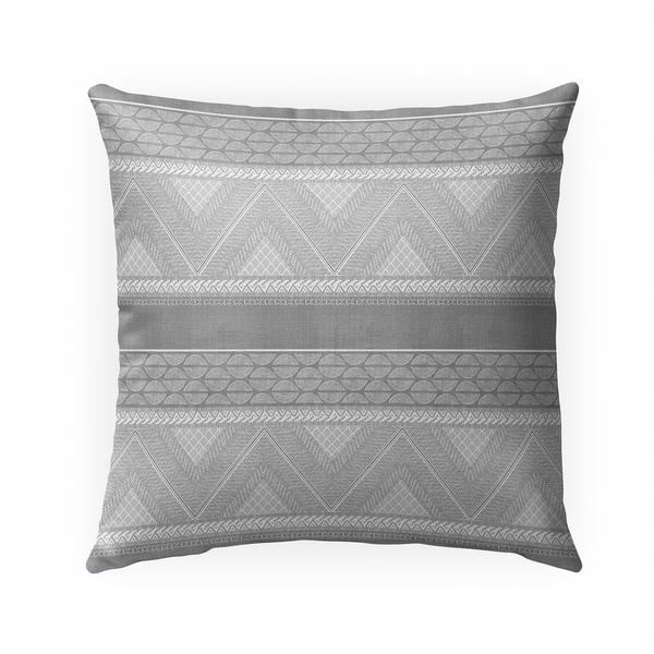 ARTISAN TRIBAL GREY Indoor|Outdoor Pillow By Becky Bailey - 18X18