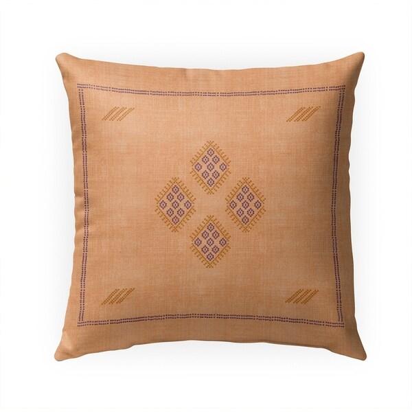 KILIM ORANGE Indoor|Outdoor Pillow By Becky Bailey - 18X18