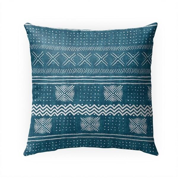TEAL NOVA Indoor|Outdoor Pillow By Becky Bailey - 18X18