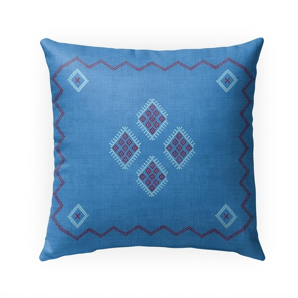 KILIM INDIGO Indoor|Outdoor Pillow By Becky Bailey - 18X18