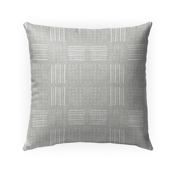 GREY BASIN Indoor|Outdoor Pillow By Becky Bailey - 18X18