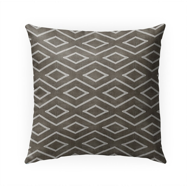 INCA TRIBAL UMBER Indoor|Outdoor Pillow By Becky Bailey - 18X18