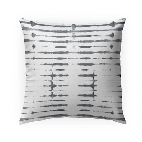 THIN SHIBORI ASH Indoor Outdoor Pillow by Kavka Designs - 18X18